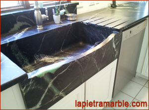 custom carved stone sink