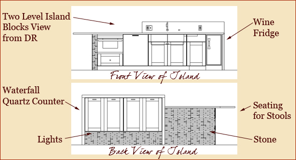 Kitchen Island Elevation building upon the architect' vision » clark construction of