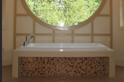 70's bath remodeled and transformed